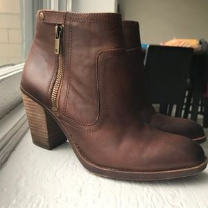 Lucky Brand Side Zip Ankle Booties